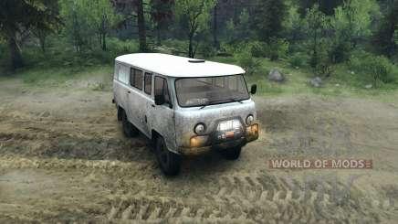 UAZ-3909 off-road para Spin Tires