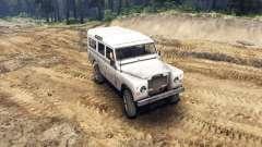 Land Rover Defender White para Spin Tires