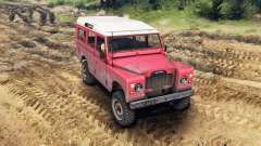Land Rover Defender Red para Spin Tires