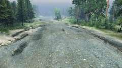 Piedra triturada carretera para Spin Tires