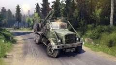 KrAZ-255 de la carretera para Spin Tires