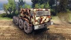 MAZ-535 de camuflaje v2 para Spin Tires