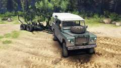 Land Rover Defender Series III v2.2 Cyan para Spin Tires