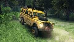 Land Rover Defender v2.2 Camel Trophy Siberia para Spin Tires