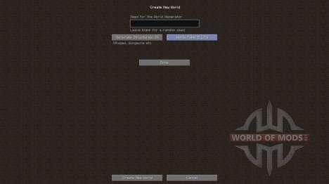 La vieja generación de el mundo para Minecraft