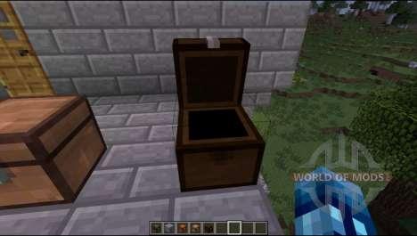 Los cofres de los diferentes tipos de madera para Minecraft