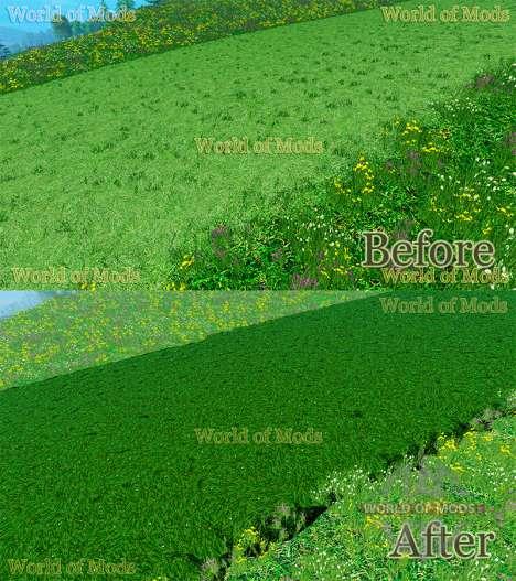 Nuevas texturas de corte de césped y de heno para Farming Simulator 2015
