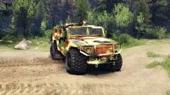 El GAZ-2975 Tiger camo para Spin Tires