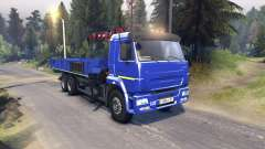 KamAZ-65117 v1.1 para Spin Tires