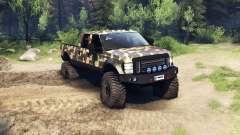 Ford F-350 Super Duty 6.8 2008 v0.1.0 ambush cam para Spin Tires