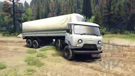 UAZ-3909 6x6 v2.0 para Spin Tires