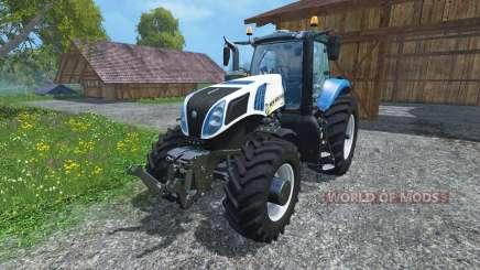 New Holland T8.390 Ultra White 2011 v2.0 para Farming Simulator 2015