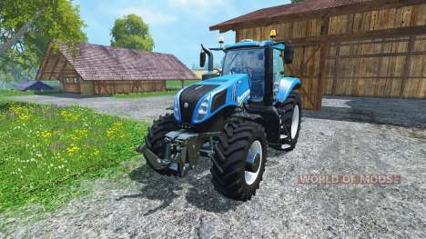 New Holland T8.435 4wheels v0.1 para Farming Simulator 2015
