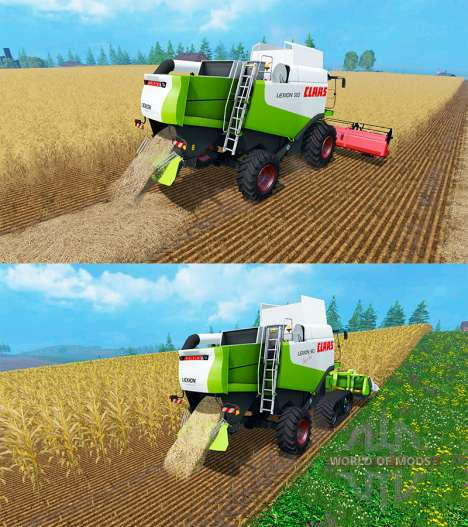 CLAAS Lexion 550 и 560TT para Farming Simulator 2015