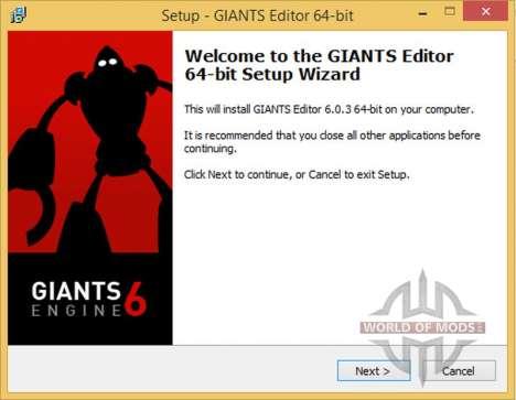 Añadir programa de GIGANTES Editor de 6.0.3 x64 para Farming Simulator 2015