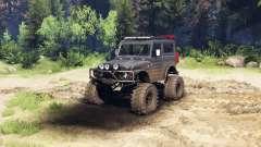Suzuki Samurai LJ880 dirty black para Spin Tires