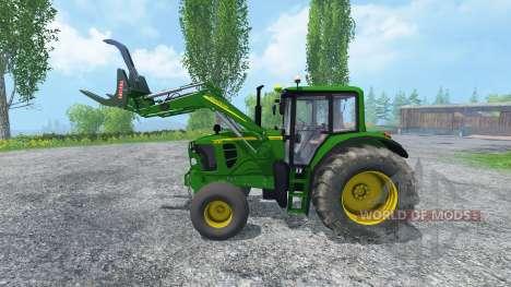 John Deere 6130 2WD FL v2.0 para Farming Simulator 2015