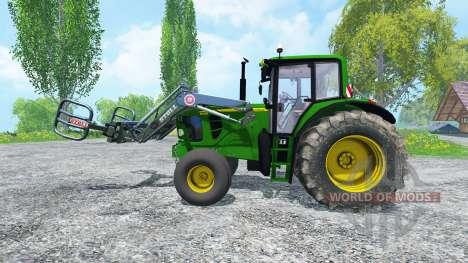 John Deere 6130 2WD FL TwinWheels para Farming Simulator 2015