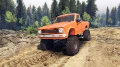 Toyota Hilux Truggy 1981 v1.1 orange para Spin Tires