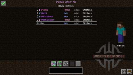Female Gender Option para Minecraft