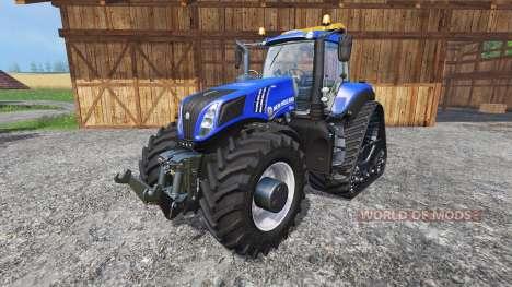 New Holland T8.435 with 200 km-h v1.1 para Farming Simulator 2015