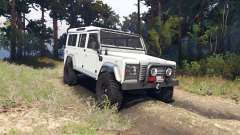 Land Rover Defender 110 white para Spin Tires