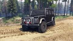 Land Rover Defender 110 black para Spin Tires