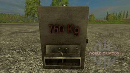 Casero de 750 kg para Farming Simulator 2015