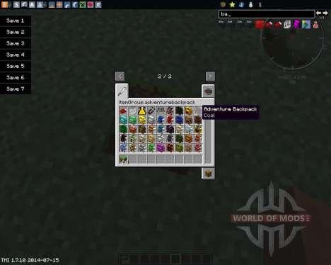 Adventure Backpack para Minecraft