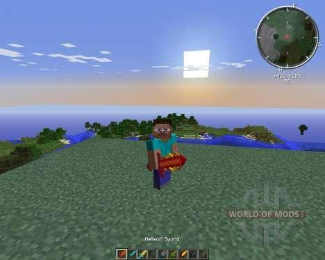 Cyan Warrior Swords para Minecraft