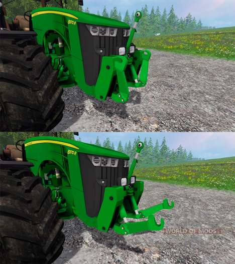 John Deere 8370R v2.0 Ploughing Spec para Farming Simulator 2015