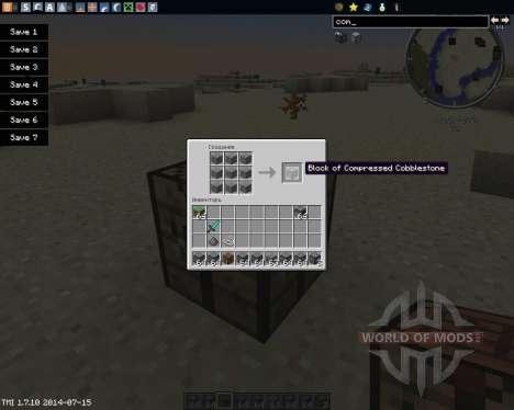 Compressed Cobblestone para Minecraft