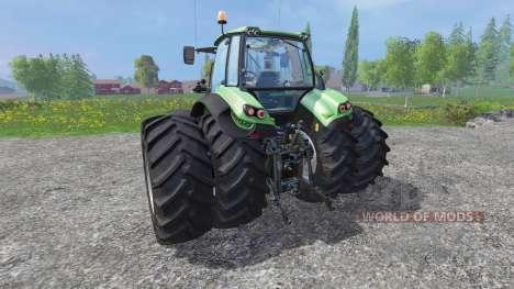 Deutz-Fahr Agrotron 7250 dynamic rear twin wheel para Farming Simulator 2015