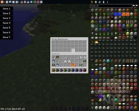 Backpacks para Minecraft