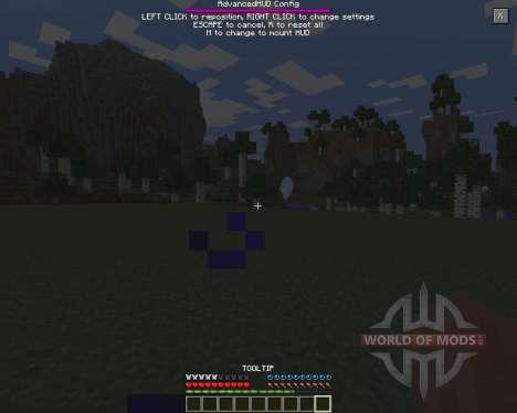 Advanced HUD para Minecraft