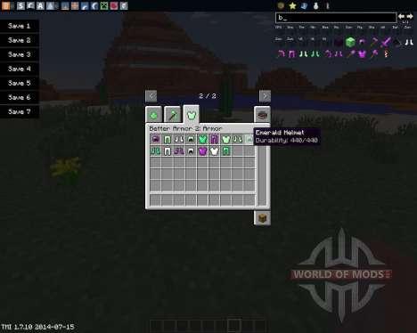 Better Armor 2 para Minecraft