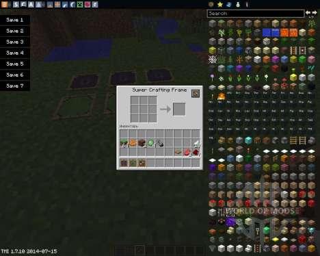 Super Crafting Frame para Minecraft