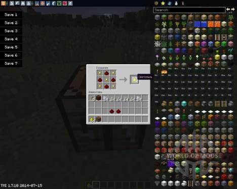 Craftable Glowstone para Minecraft