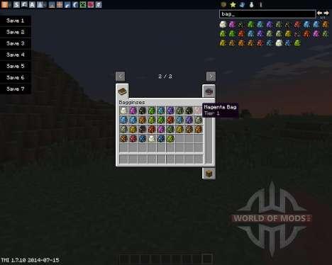 Bagginses para Minecraft