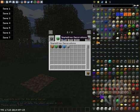 SimpleOres para Minecraft