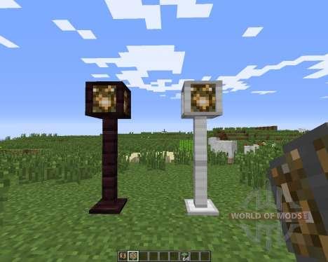 Lamp Posts para Minecraft