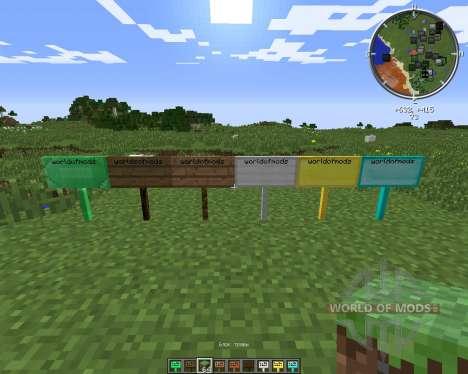 MoarSigns para Minecraft