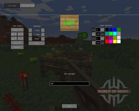 Large Sign para Minecraft