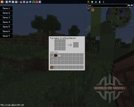 Portable Craft Bench para Minecraft