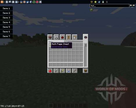 Multi Page Chest para Minecraft