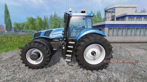 New Holland T8.320 600EVOX v1.11 blue para Farming Simulator 2015