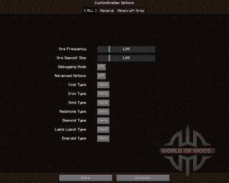 Custom Ore Generation Revival para Minecraft