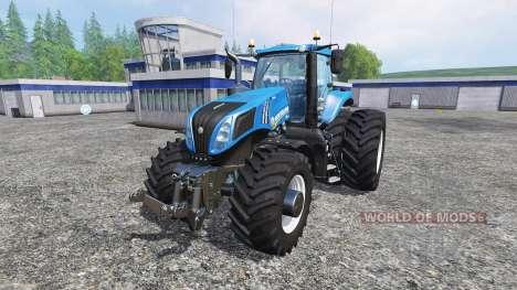 New Holland T8.320 with twin dynamic rear wheels para Farming Simulator 2015