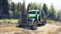 Peterbilt 379 green and black para Spin Tires
