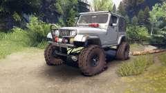 Jeep YJ 1987 silver para Spin Tires